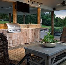Backyard Grill Chicago by Chicago Rustic Outdoor Kitchen Patio Contemporary With Cabinets