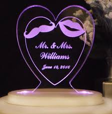 mr u0026 mrs wedding cake topper moustache and lips acrylic