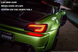 custom car tail lights car shop glow custom led tail lights smoked version 3 ap1 ap2