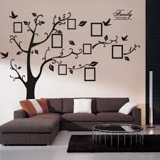 amazon com wall decals art stickers waterproof huge size family amazon com wall decals art stickers waterproof huge size family photo frame tree and birds pattern for home kitchen bedroom living room decor home