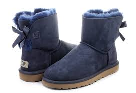 ugg mini bailey bow on sale ugg boots w mini bailey bow 1005062 navy shop for