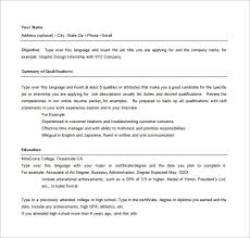 combined resume template 28 images sle of a combination resume