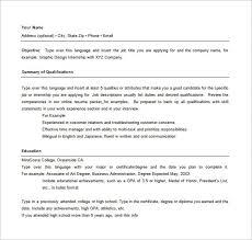 Online Resume Template Word by Hybrid Resume Template Word