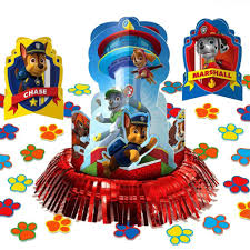 Paw Patrol Cake Decorations Paw Patrol Party Supplies Pack Decorations Candle Set Hanging