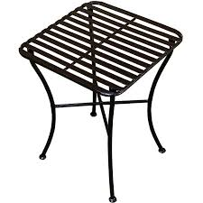 Outdoor Folding Side Table Outdoor Square Black Iron Folding Side Table Free Shipping Today
