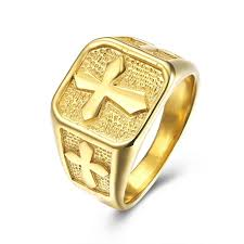 cross gold rings images 316l stainless steel masonic gold ring men 39 s jewelry accessories jpg
