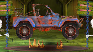 jeep mail van scary jeep garage halloween vehicles for kids youtube