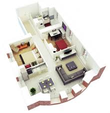 uncategorized cool 3d 3 bedroom house plans with photos 3d 3