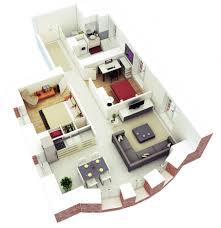 Uncategorized Cool 3d 3 Bedroom House Plans With Photos 3d 3