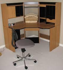 Glass Corner Computer Desks For Home Decorative Glass Corner Computer Desk Deboto Home Design