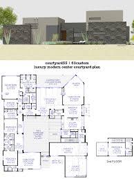 courtyard house plans 61custom contemporary modern floor enjoyable