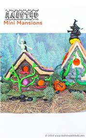 halloween crafts haunted mini mansions babble dabble do