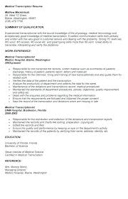 transcribing resume objective ideas for research resume for hire medical transcription resume hire see her resume