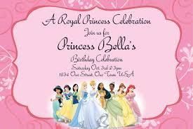 18th Birthday Invitation Card Disney Princesses Birthday Invitations Disney Princess Birthday