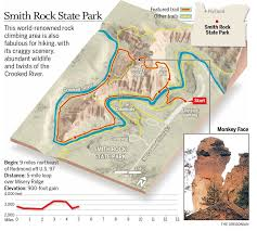 Oregon Elevation Map by Smith Rock State Park Up Down Misery Ridge Terry U0027s Top 10 Trails