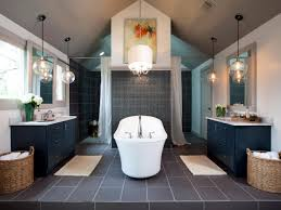 Cool Bathroom Designs Bathrooms Gold Bathroom With Oval Bathtub Under Crystal