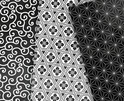 japanese pattern black and white black watercolor digital paper japanese patterns black and