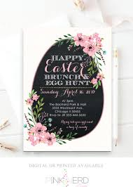 baby brunch invitations easter egg brunch baby shower invitation floral pink easter