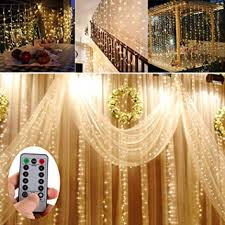 battery operated 300 led curtain lights outdoor string