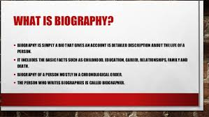 Biography Definition | biography definition function and types