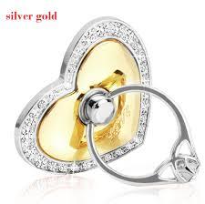 metal crystal ring holder images Luxury love heart shape crystal metal i ring holder hook stand jpg