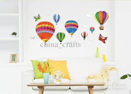 Nursery Wall Decorations Removable Stickers Wall Decal Beautiful Air Balloon Wall Decals Vintage Air