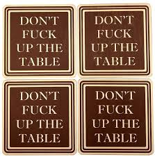 don up the table wood drink coasters great housewarming