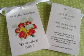 custom seed packets calla custom place cards seating chart table number