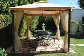 Gazebo Patio Sweet Orange Patio Gazebo Canopy Design With Black Table For