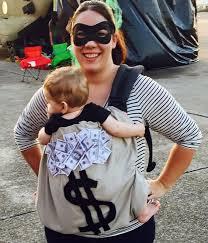 Cute Infant Halloween Costume Ideas Diy Burglar Baby Carrier Halloween Costume Idea Diy Halloween