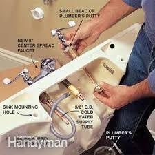 Pedestal Sink Faucet Replacement How To Plumb A Pedestal Sink Family Handyman