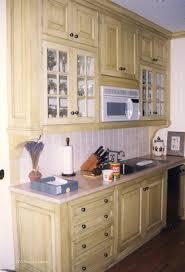 cherry wood prestige door milk paint kitchen cabinets backsplash