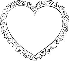 gabarit coeur a imprimer az coloriage