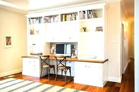 Built In Desk Ideas For Home Office Office Built In Ideas With A Glossy Mahogany Desk And Expansive