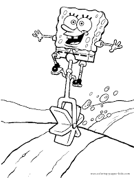 spongebob squarepants color page coloring pages for kids