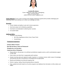 exle of resume format for exles of resumes resume format in the philippines cover with