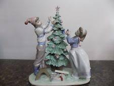 lladro porcelain trimming the tree 01005897 ebay