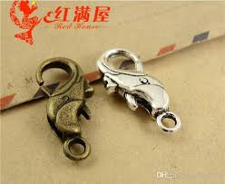silver dolphin ring holder images 2018 24 16mm antique bronze alloy dolphin charm lobster clasp for jpg