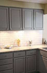 Grouting Kitchen Backsplash Gray Subway Tile Backsplash In New Graceful Kitchen
