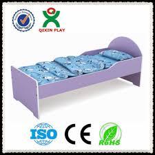 Purple Cartoon Wood Baby Bedpreschool Kids Bedroom Furniture - Non toxic childrens bedroom furniture