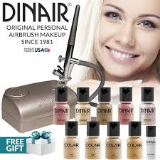 best professional airbrush makeup system dinair airbrush makeup professional kit fair shades