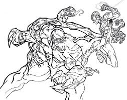 venom and spiderman coloring pages