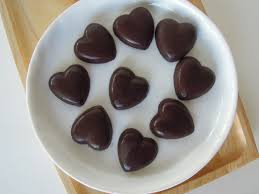 heart chocolate chocolate hearts fork and beans