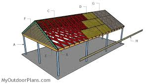 Building An Attached Carport 3 Car Carport Plans Myoutdoorplans Free Woodworking Plans And