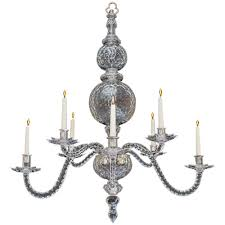 Period Pendant Lighting Extremely Rare English George Ii Period Cut Glass Chandelier Cut