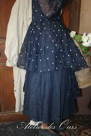organdi de coton mlle plumetis robe bleu nuit coton et organdi ewa iwalla veste