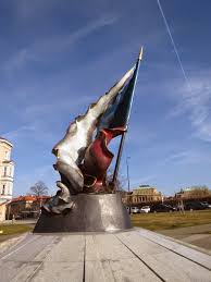 Bohemia Flag Londinoupolis The Resistance Flag Monument Statue Prague