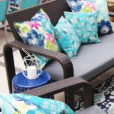 Reupholster Patio Furniture Cushions Diy With Style The No Sew Way To Reupholster Outdoor Cushions