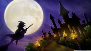 halloween hd wallpapers 1920x1080 witch on broom full moon hallowmas halloween hd desktop wallpaper