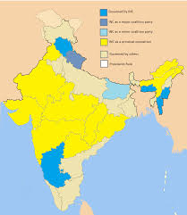 States Of India Map by File Political Presence Of Inc Across States Of India Png